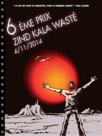 Jean-François Ramirez et l'affiche du prix Zind-Kal-Wasté